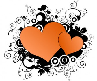 Abstract Vector Love Decoration