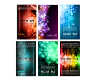 Vector Business Card Abstract Set 03