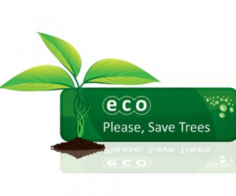 Free Vector Stock Eco Leaf Banner
