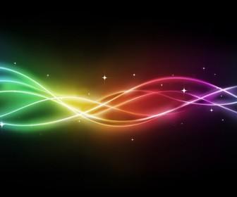 Rainbow curve vector background art