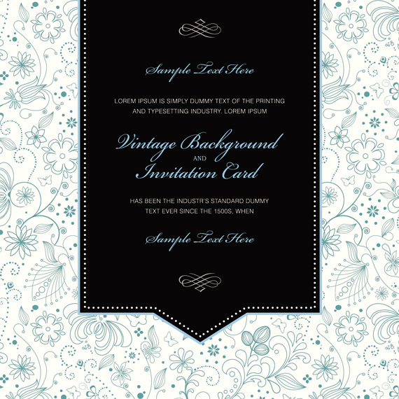 vintage invitation card template  ai svg eps vector free download, invitation samples