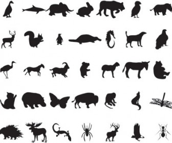 Animal Silhouettes Vector Pack
