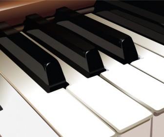 Realistic Piano Vector