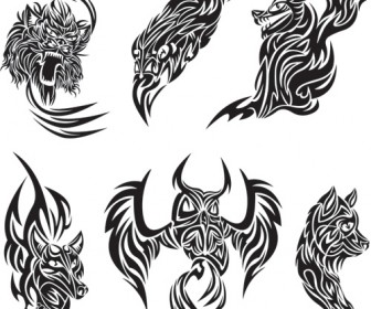 Abstract Animal Tattoo Pack