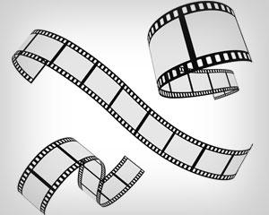 Vector Film strip 3 roll set