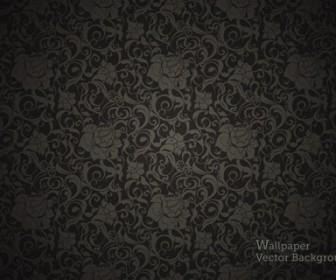 Seamless Wallpaper Black Pattern Vector