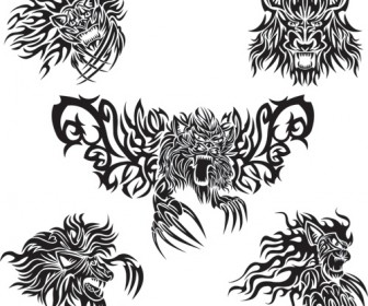 Abstract Animal Tattoo Vector