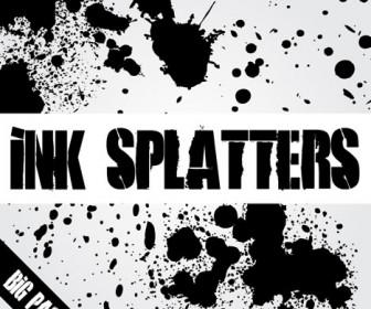 Ink Splatters Background Vector