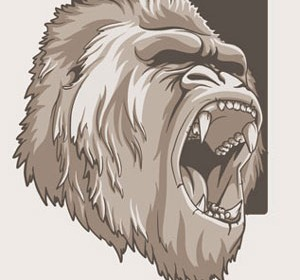 Sketch Monkey Illustration Vector