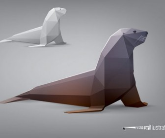 Vector animal stylized triangle polygon model