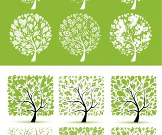 Spring Trees Vector Art
