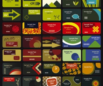 Colorful Business Cards Vector Pack