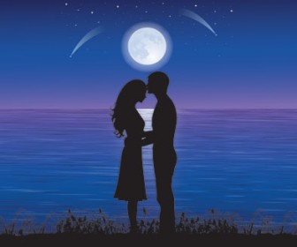 Free Vector Stock Silhouettes Loving Couple