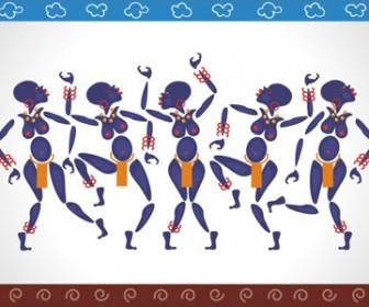 African dance vector