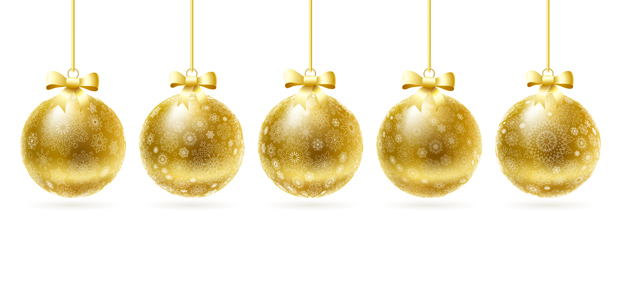 Gold Christmas Balls Vector  Ai Svg Eps Vector Free Download