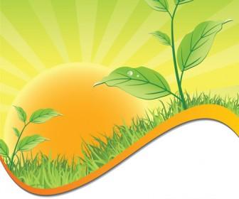 Summer Leaf Landscape Vector