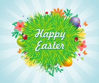 Easter Eggs Card Background