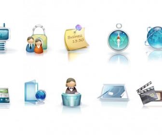 Business Icon Set Vector Art