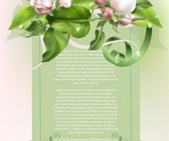 Invitation card with flower vector