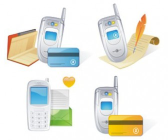 Free stock vector design elements 3D set icon telephone 41