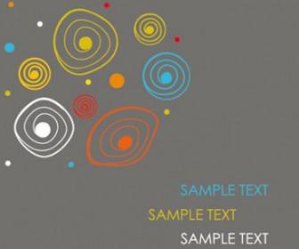 Abstract Circle Card Illustration Vector