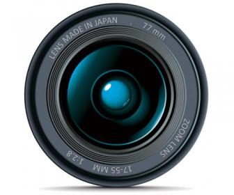 DSLR Lens illustration Vector