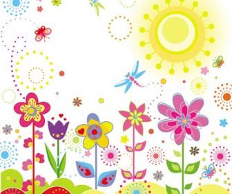 Summer flower vector art