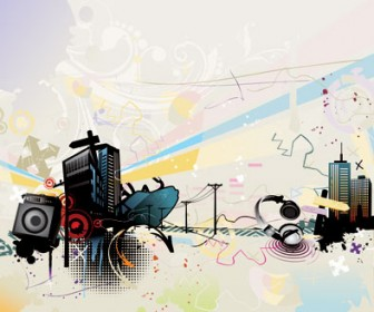 Vector Music Illustration Background