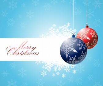 Christmas Bulbs Vector Background