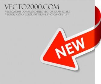 New Red Arrow Vector