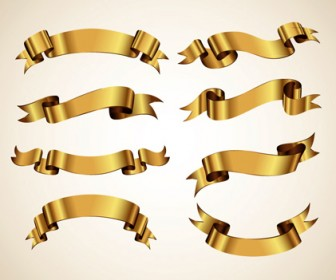 Golden Ribbon Decorative