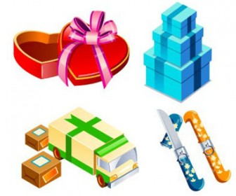 Elements 3D set icons23