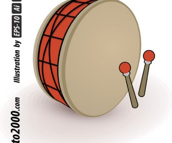 Simple Drum for Ramadan Vector