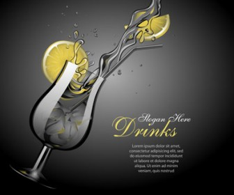 Coocktail Glass Vector Illustration