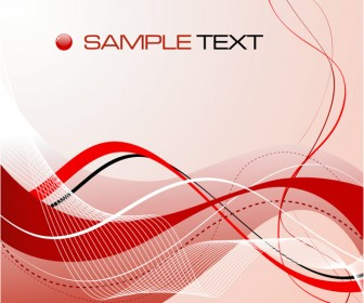 Red Abstract Composition Card