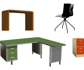 Free Vector Office Furniture
