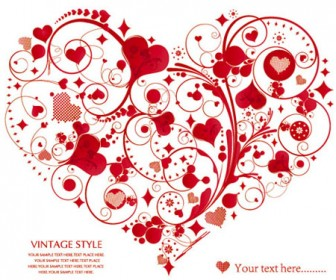 Ornamental Heart Vector Illustration