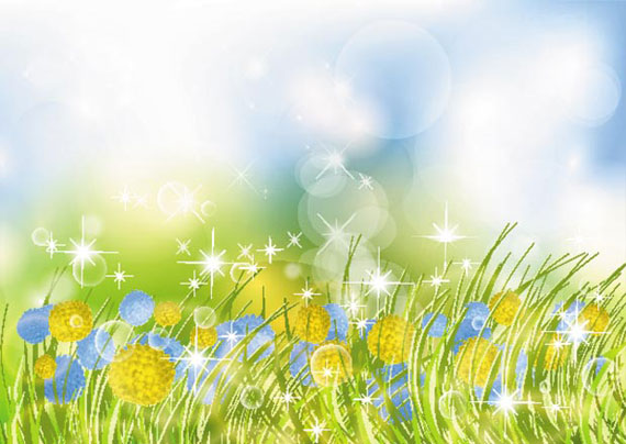 Beautiful Flower Garden Vector Background - Ai, Svg, Eps ...