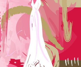 Wedding gown illustration