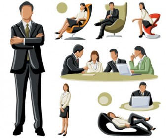Vector Business People Illustration