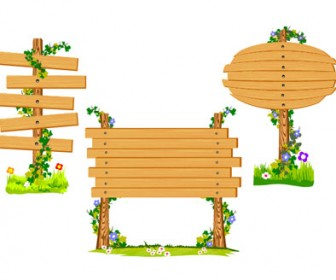 Illustration blank wooden