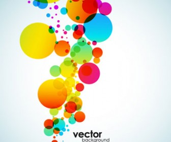 Colorful Circle Background Illustration Vector