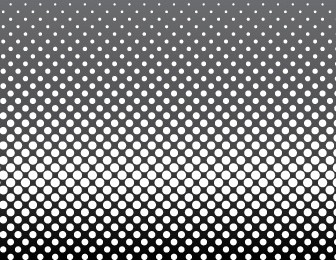 Halftone Circle Patterns Vector
