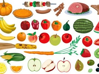 Fruit Vector Vegetables Illustrations