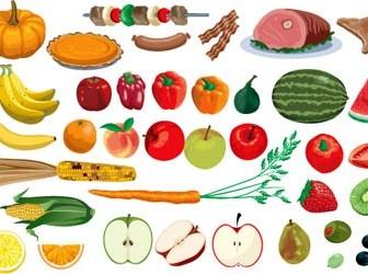 Fruit Vector Vegetables Illustrations