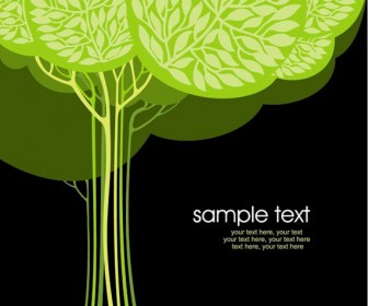 Stylized Trees Card vector