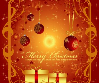 Christmas Greeting Card Vector Graphics