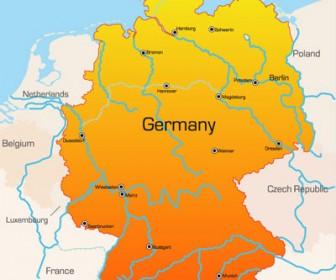 World Map Germany