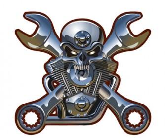 Iron Skull illustration vector