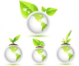 Green leaf vector pack 3